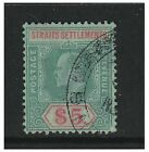 Malaya Straits Settlements - 1909, $5 Green & Red/Green - Used - SG 167
