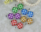 12mm 16mm 20mm cab Handmade Photo glass cabochon flower Collection Green 12G052