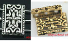 10/50pcs Retro Charms Tibetan Silver 3-3 hole Rectangle spacer beads 17x12mm