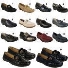 LADIES COMFORT SHOES FAUX LEATHER WOMENS COMFY SLIP ON FLATS SIZE 3 4 5 6 7 8
