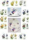 Flower of the Month Breakfast Cup & Saucer Large Bone China Hand Decorated in UK