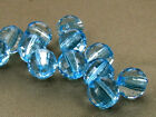 8mm 100/200/300/400/500pcs CLEAR BLUE FACETED LUCITE ROUND BEADS TY2364