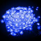 New 10m 60 LED Fluffy Ball-Shaped String Fairy Light Lamp For Decor Xmas Outdoor