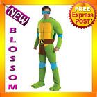 C889 TMNT Teenage Mutant Ninja Turtles Deluxe LEONARDO Fancy Adult Costume