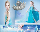 UkG Cost Elsa 021 Crown Frozen Girls Halloween Party Dress 2-7y