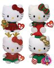 TY HELLO KITTY CHRISTMAS COLLECTION BEANIE BABIES PLUSH SOFT TOY NEW TAGS