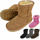 Childrens / Kids / Girls Full Sheepskin Boots with Reinforced Heel