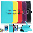 Flip Leather Shockproof Dirt Dust Proof  Wallet Stand Cover Case For iPhone 5 5S