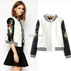 Sexy Womens Biker Motorcycle PU Soft Leather Zipper Jacket Coat Outwear 35DI