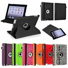 For iPad 4th 3rd 2nd Gen 4/3/2 360 Rotating Color Magnetic Case Cover Stand