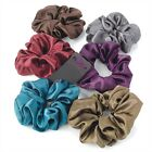 Coloured Satin Feel Hair Scrunchie Bobble Elastic Hair Band - Hair Accessories