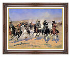 A Dash For The Timber Frederic Remington Western Painting Repro Canvas Art Print