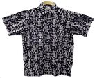 Halloween Dancing Skeleton Hawaiian Style Cotton Batik Shirt XS S M L XL Whitby