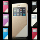 "Flip PU Leather Window View Case Stand Cover for Apple iPhone 6 4.7""/Plus 5.5"""