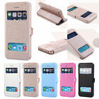 New Magnetic PU Leather Smart Window View Flip Case Skin Fr Apple iPhone 6 6Plus
