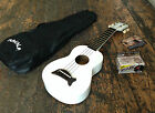 Makala Pearl White Soprano Ukulele Uke With Optional Snark Tuner & Free Case