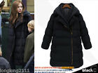 Fashion winter Womens thicken warm Hooded jacket korean Long coat parka outwear