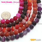 New 8mm Natural Round Frost Agate Gemstone Jewelry Making Loose Beads Strand15'