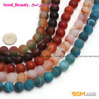 New 12mm Natural Round Frost Agate Gemstone Jewelry Making Loose Beads Strand15'