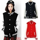 M L XL XXL Womens Varsity College Letterman Baseball Jacket Uniform Jersey - CB
