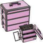 Purple Diamond 3-in-1 Stackable Trays Makeup Cosmetic Upgradable Case Box E3303
