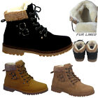 Women's Ladie's Winter Boots Fur Collar Comfort Fur Inner Warm Grip Sole Shoe UK