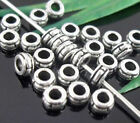 wholesale 370/1200Pcs Silver Plated  Spacer Beads 5x2mm (Lead-Free)