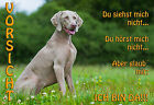 METALL-WARNSCHILD: WEIMARANER 2320