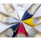 13 Color US Size 5-9 Leather Slip On Pointed Toes Pump High Heels Women's Shoes