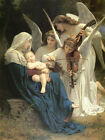 Song of the Angels William Bouguereau Christian Canvas Art Painting Reproduction