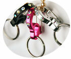 ANY SIZE & COLOR - RUBIT - RHINESTONE CURVE - QUICK RELEASE DOG TAG HOLDER CLIP