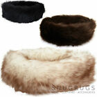 Ladies /Womens /Long Fleece Genuine Sheepskin Ski Headband