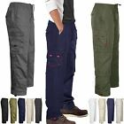 MENS WATERPROOF CARGO FLEECE LINED THERMAL COMBAT BIKER HIKE WORK PANTS