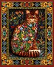Poster / Leinwandbild Tapestry Cat - Lewis T. Johnson