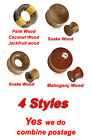 New Concave Saddle Fit Snake Wood Organic Ear Flesh Plug Double Flare Tunnel