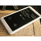 Super Bling Diamond Full View Leather Cover Case For Samsung Galaxy Note 4 N9100