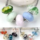 5x Faceted Crystal Glass European Charm Loose Bead Fit Bracelet Jewelry DIY Gift