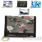 Mens / Boys / Childrens Camouflage / Army Style Velcro Wallet with Chain