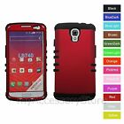 For LG Volt LS740 Red Hard & Rubber Hybrid Rugged Impact Armor Phone Case Cover