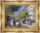 Framed The Great Boulevards by Pierre Auguste Renoir Repro Canvas Fine Art Print
