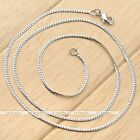 1pc White Gold Silvery Curved Lock Lines Link Chain Unisex Fashion Necklace  New