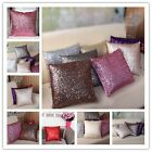 Comfy Solid Color Sequins Cushion Cover Throw Pillow Case Cafe Decoration New CB