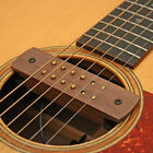 ACOUSTIC GUITAR  DUAL COIL SOUNDHOLE MAGNETIC PICKUP MAPLE OR WALNUT CASING