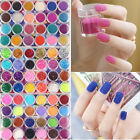 24 Colour Mini Bottles Nail Art Beads Caviar Glitter And Powder Decoration