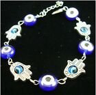 Evil Eye bracelet Silver Hand & Glass Eye Bead Bracelet BR6393