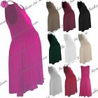 Womens Ladies Jersey Baggy Sleeveless Ruched Tunic Oversize Maternity Midi Dress
