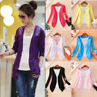 Women Lady Lace Sweet Candy Color Crochet Knit Blouse Top Coat Cardigan Sweater