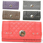 LADIES / WOMENS / GIRLS FAUX LATHER MATINEE PURSE WITH DIAMOND PATTERN DESIGN