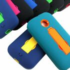 For Motorola Moto E Rugged Impact Hybrid Hard Case Cover Kickstand Accessory