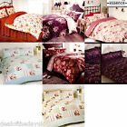 Luxury Floral Jacquard Bedding Double King Size Shabby Chic Duvet Set Cover